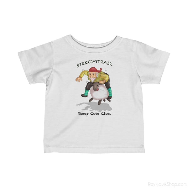 Stekkjastaur- Sheep Cote Clod - Infant Tee - Santa Claus-Kids clothes-Reykjavik Shop