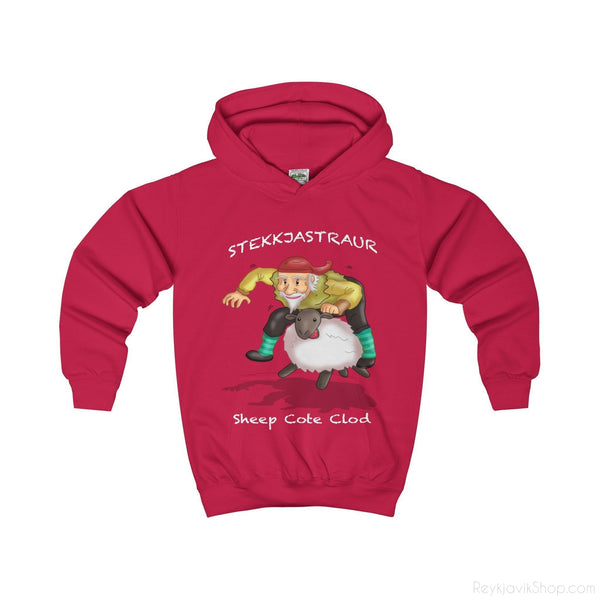 Stekkjastaur- Sheep Cote Clod - Kids Hoodie - Santa Claus-Kids clothes-Reykjavik Shop