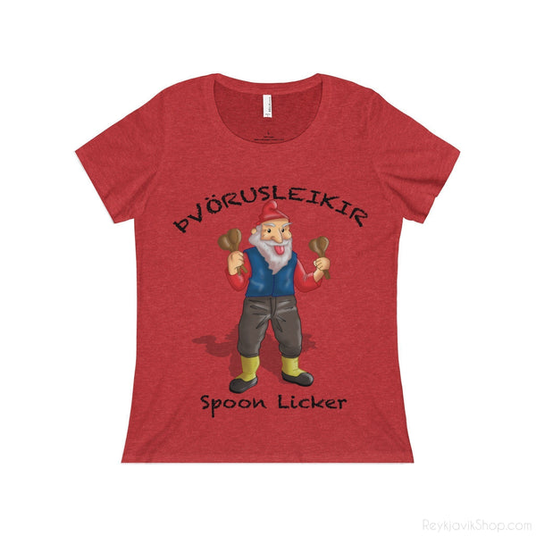 Þvörusleikir - Spoon Licker - Women's Neck Tees - Santa Claus-T-Shirt-Reykjavik Shop