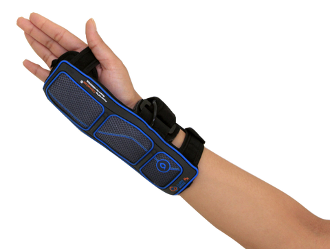 Climaware wrist splint with ice heat and contrast therapy