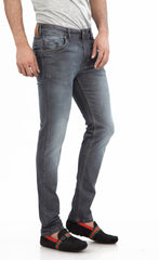 Moustache Skinny FIT  Mens Jeans- Grey