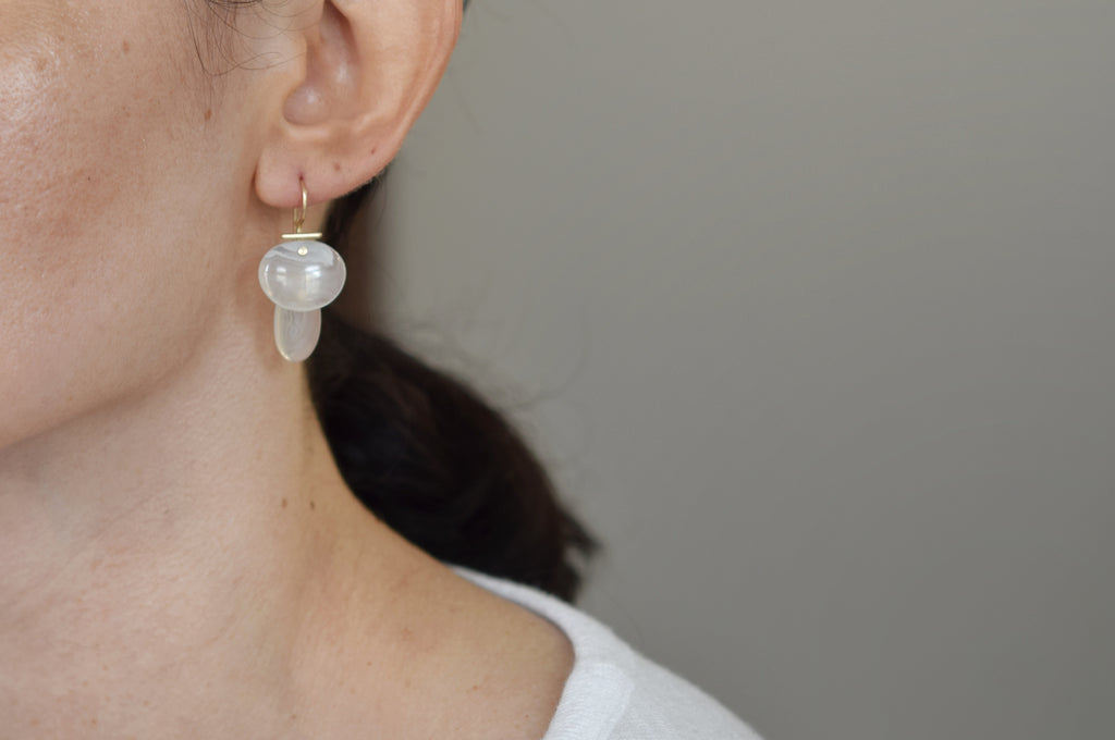 layered lingzhi | kiku earrings | Keegan Agate