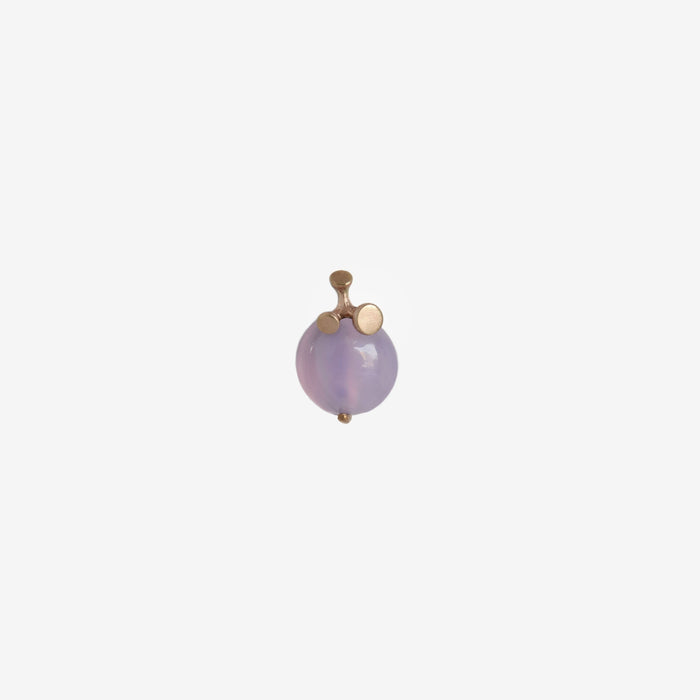 old stock holley blue agate cabochon floret pendant in recycled 14k yellow gold from sweet home Oregon