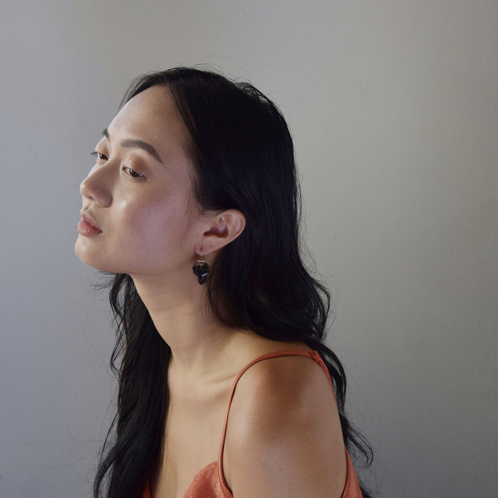 layered lingzhi | kiku earrings | Marfa Agate
