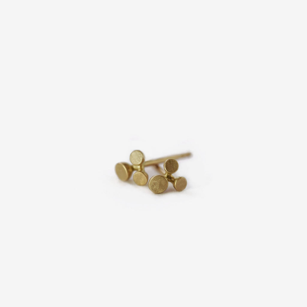 small blossom inspired floret studs in gold - small