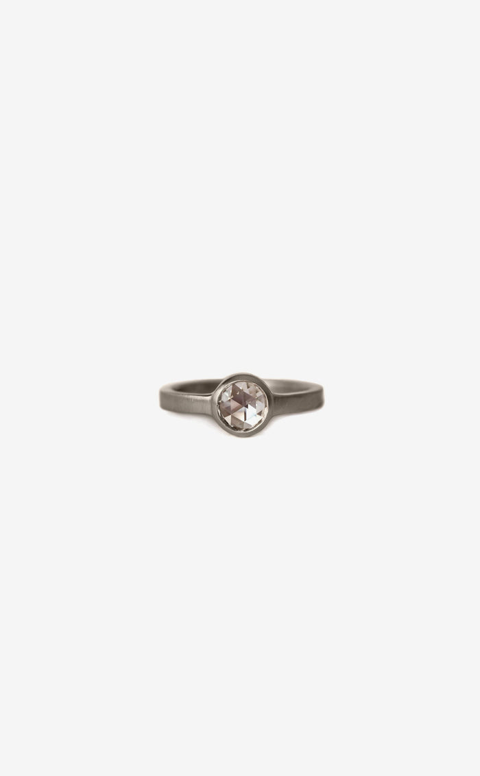 Rose Cut Diamond | 0.50 ct | flat band bezel ring