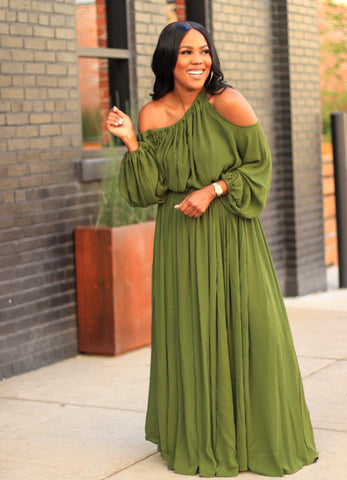Sheer Luck | Maxi Dress - Green