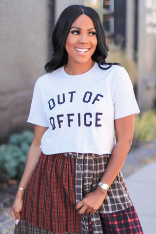 Out of Office | Crop Top - Grey