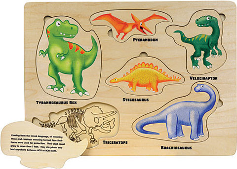 Puzzle, Lift and Learn Dinosaur