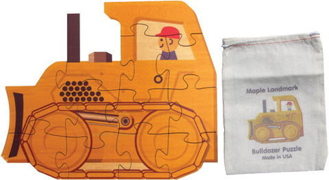 Shaped Jigsaw Puzzle, Bulldozer