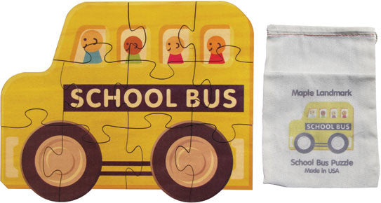 Shaped Jigsaw Puzzle, School Bus