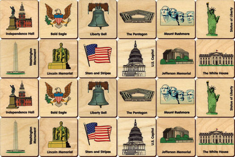 Memory Tiles, American Icons