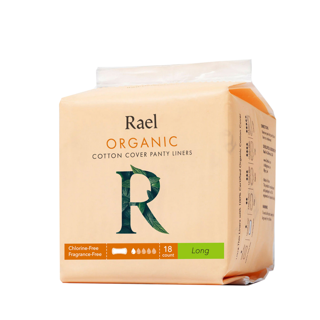 Rael Panty Liners with Certified Organic Cotton Cover 18s - Long
