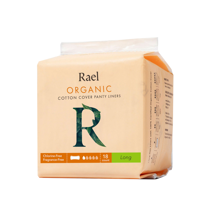 Rael Long Panty Liners with Certified Organic Cotton Cover 18s
