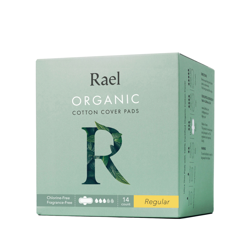 Rael Sanitary Pads with Certified Organic Cotton Cover 14s - Regular