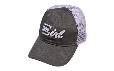 Glock AS00065 Glock Girl Hat Cotton/Mesh Gray/Lavender, Apparel & Swag, Glock,Glock AS00065 Glock Girl Hat Cotton/Mesh Gray/Lavender - Big Tex Outdoors
