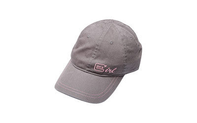 GLOCK Girl  Chino Hat Baseball Cap Grey/Pink AS10007, Apparel & Swag, Glock,GLOCK Girl  Chino Hat Baseball Cap Grey/Pink AS10007 - Big Tex Outdoors