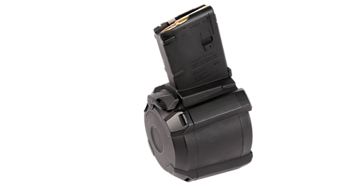 PMAG® D-60™ AR/M4 5.56X45MM NATO MAG576-BLK D-60 Drum, Magazines, Magpul,PMAG® D-60™ AR/M4 5.56X45MM NATO MAG576-BLK D-60 Drum - Big Tex Outdoors