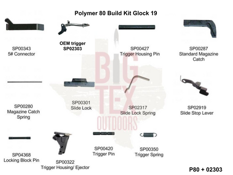.Glock OEM P80 Frame Parts Package 9mm, Glock Parts (OEM), Glock,.Glock OEM P80 Frame Parts Package 9mm - Big Tex Outdoors