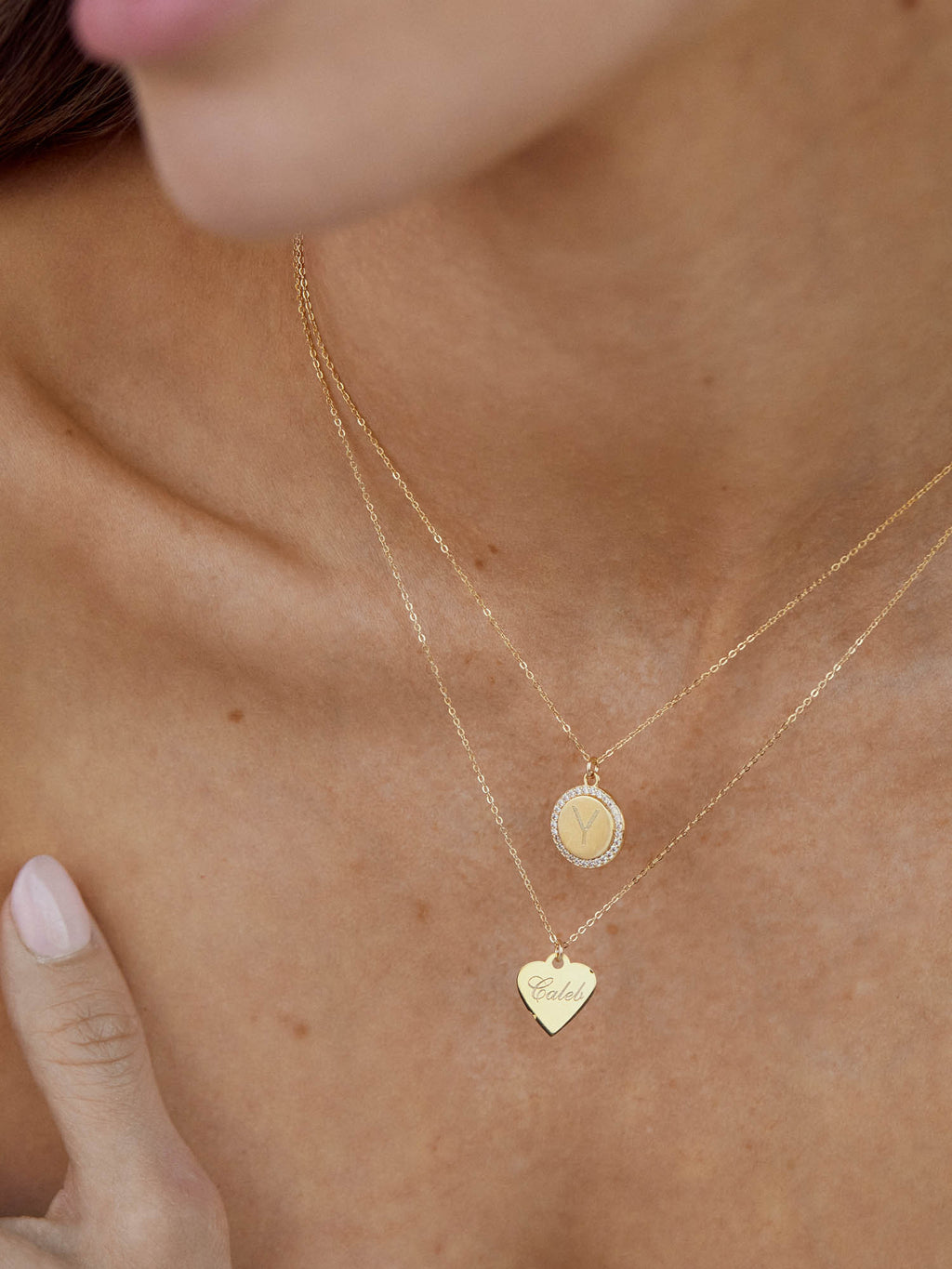 Traditional Engraved Heart Necklace