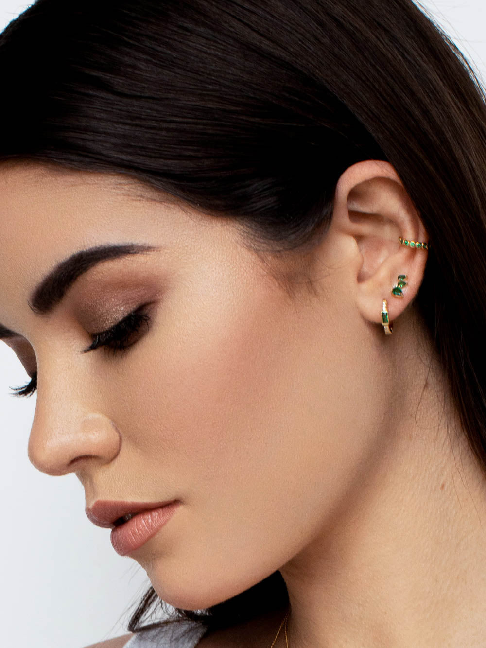Ear Climbers May Birthstone  Gold Studs by The Faint Hearted Jewelry