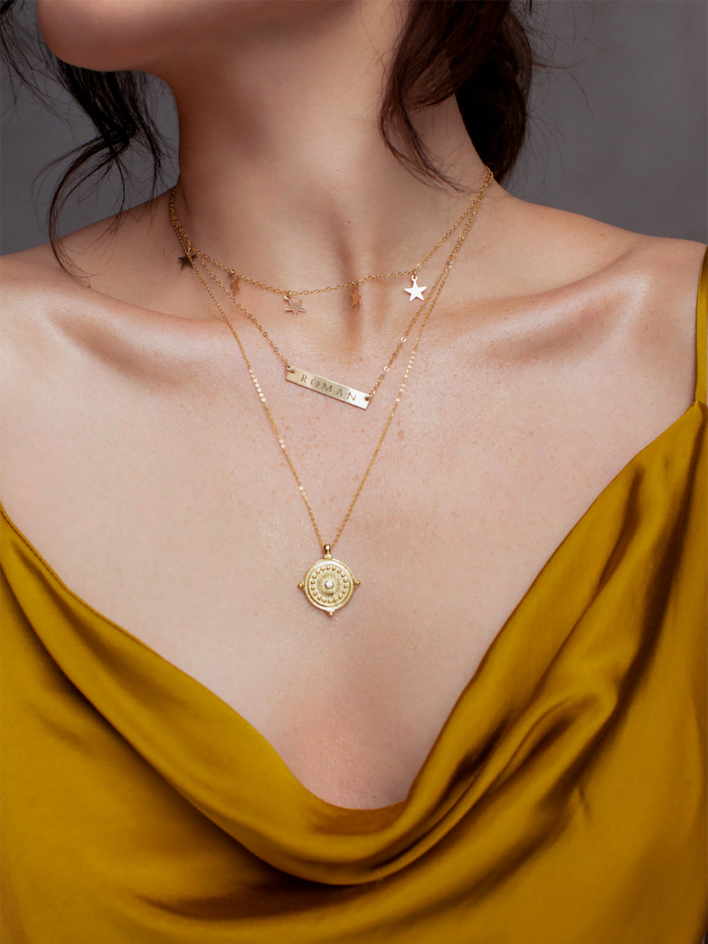 Horizontal Bar Gold Filled Necklace by The Faint Hearted Jewelry