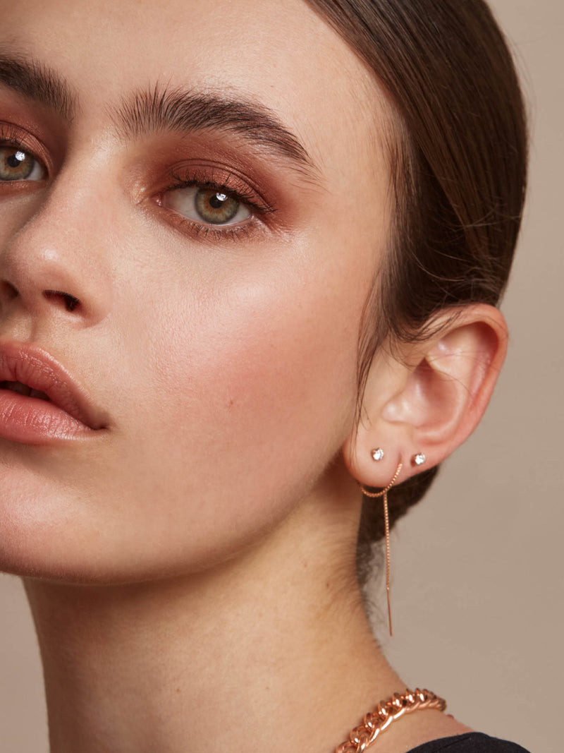 Threader Earrings - Rose Gold