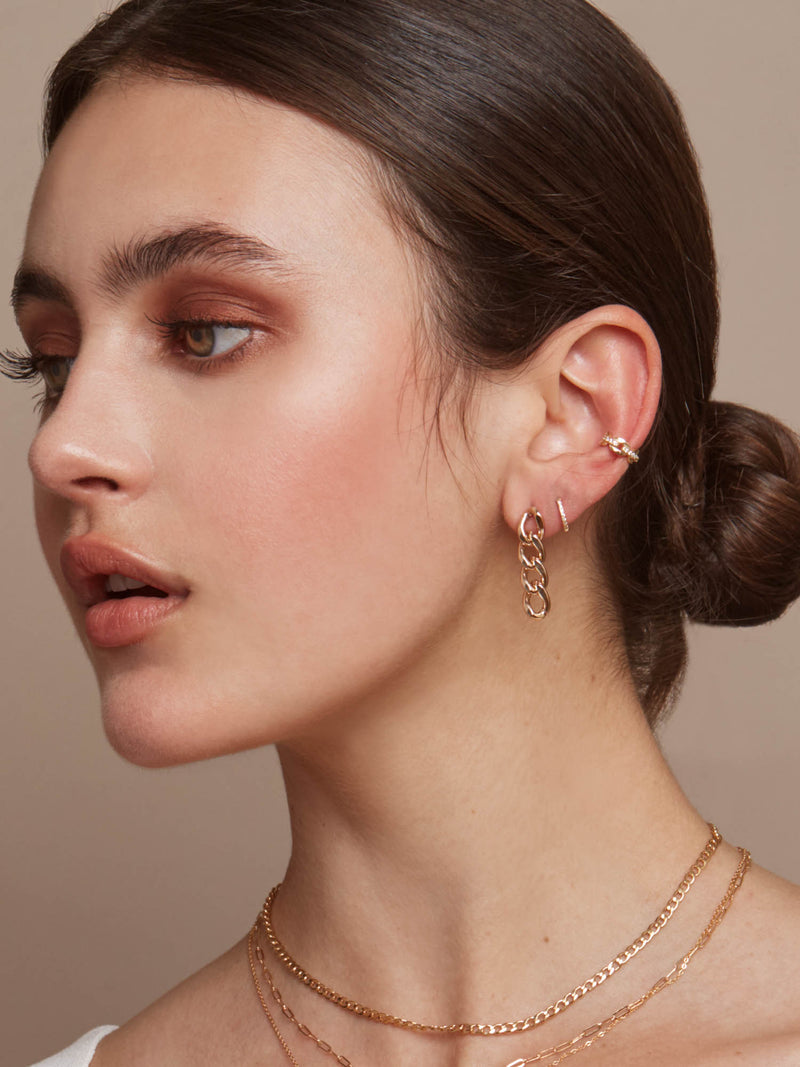 Paperclip Chain Ear Cuffs