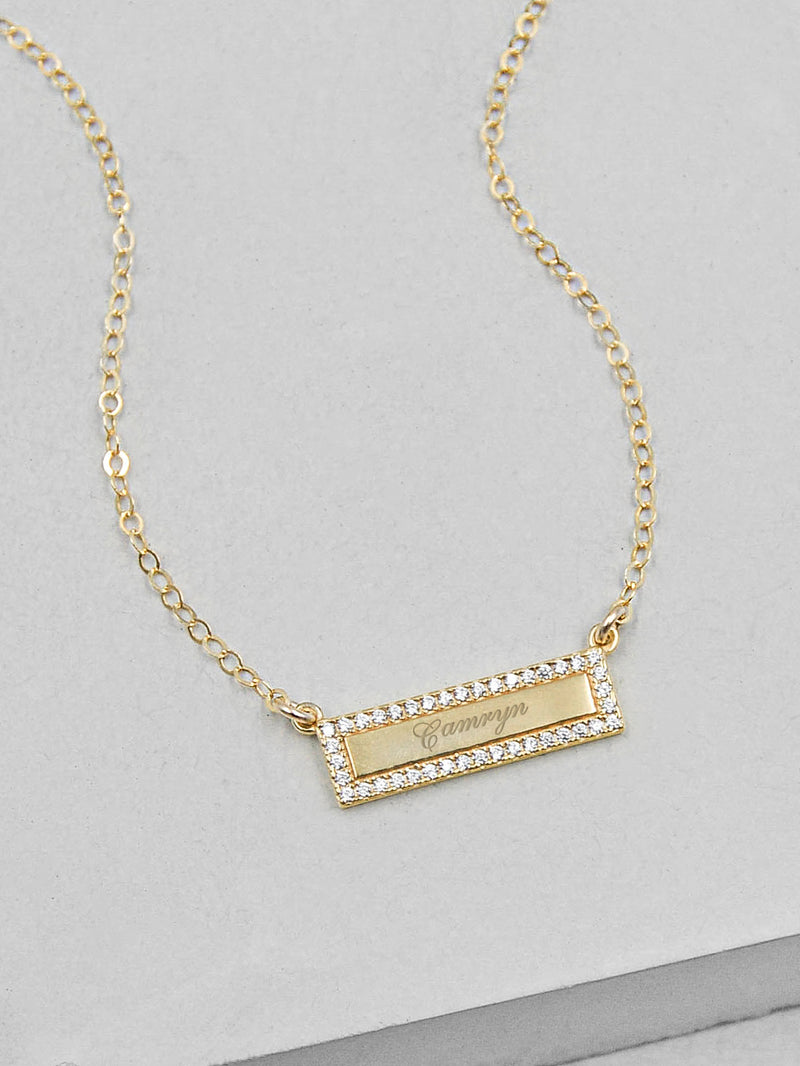 Sparkle Bar Gold Necklace by The Faint Hearted Jewelry