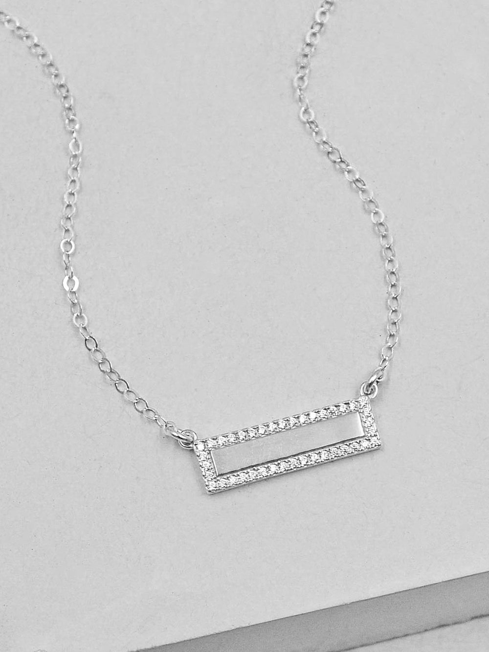 Silver Sparkle Bar Necklace by The Faint Hearted Jewelry