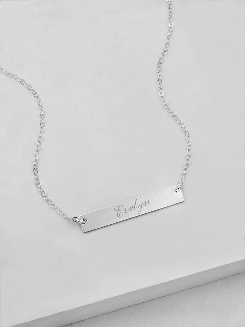 Horizontal Bar Silver Necklace by The Faint Hearted Jewelry