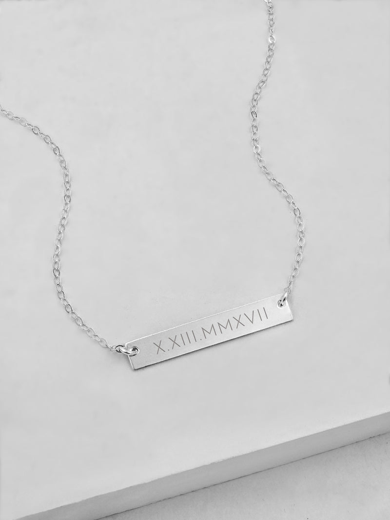 Horizontal Bar Name Sterling Silver Necklace by The Faint Hearted Jewelry