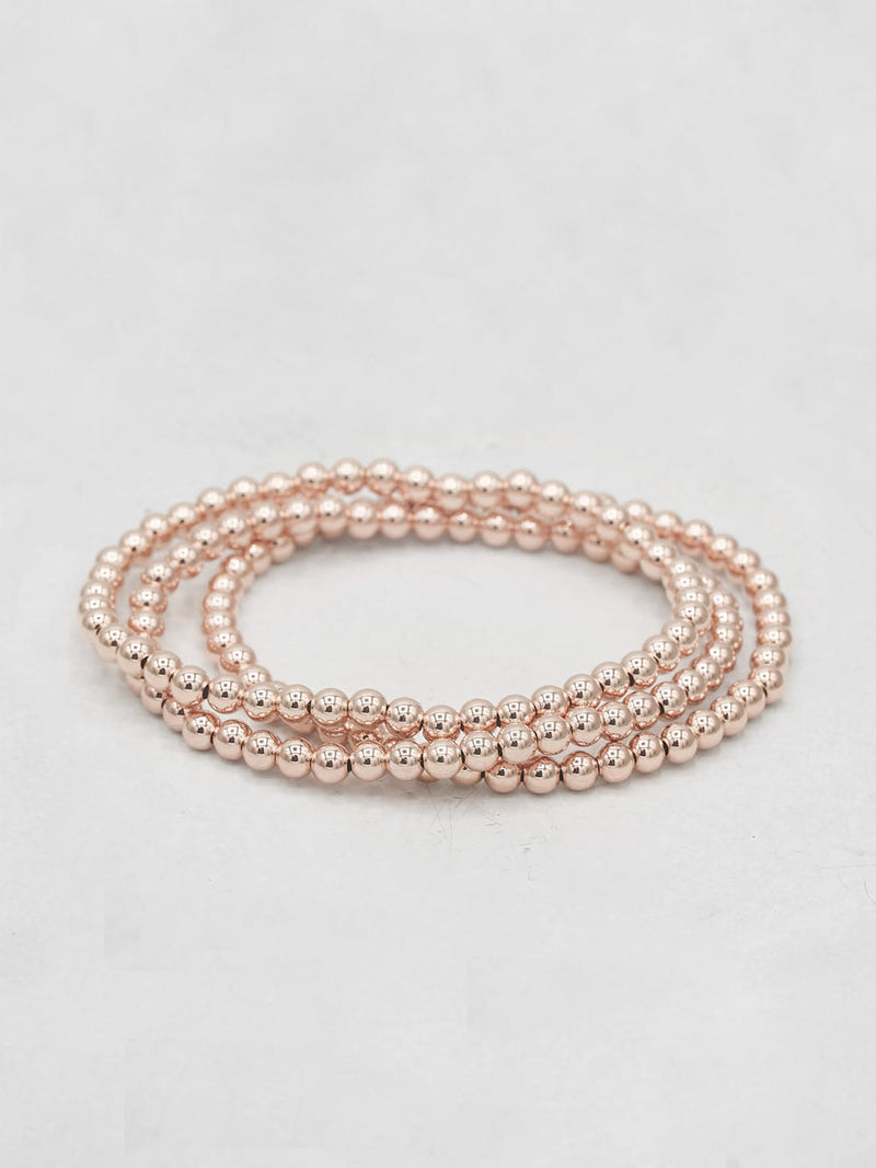Beaded Bracelet - Rose Gold Filled