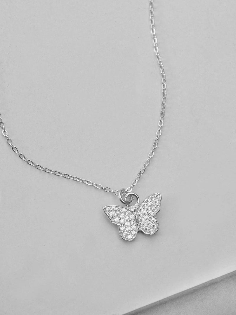 Butterfly CZ Necklace