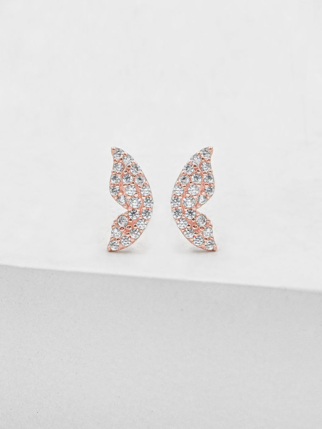 Butterfly Wing Studs - Rose Gold