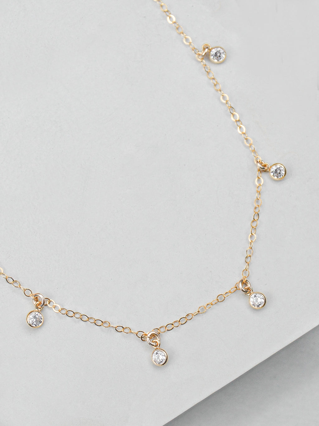 Dainty Gold Filled Charm Necklace by The Faint Hearted Jewelry