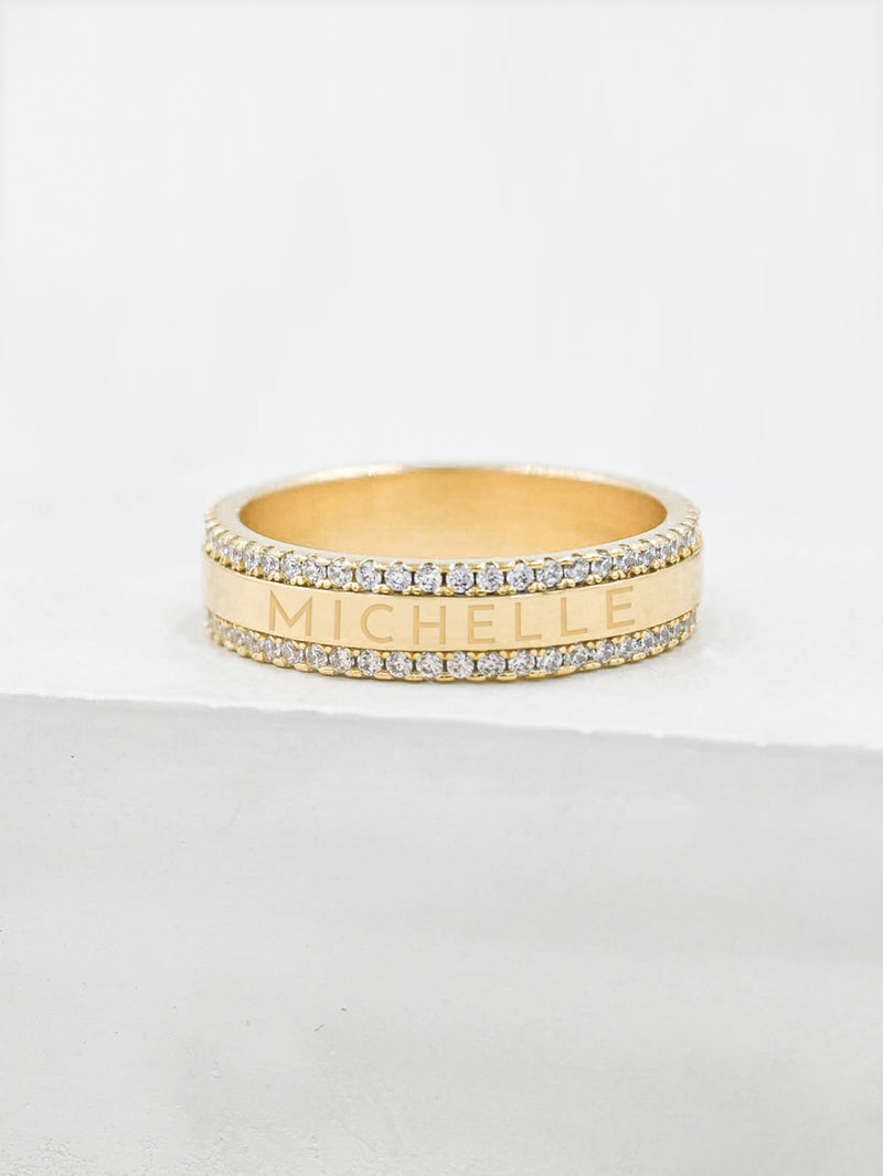Engraved Eternity Ring - Gold