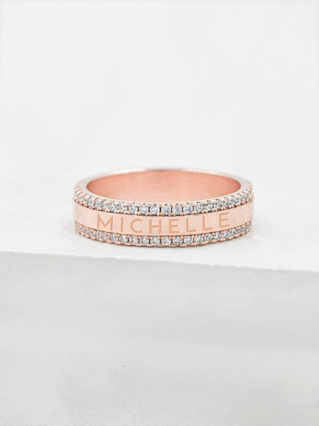 Engraved Eternity Ring - Rose Gold
