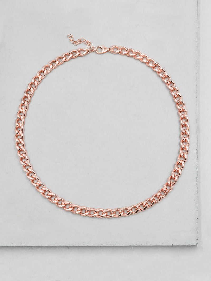 Thick Cuban Link Necklace - Rose Gold