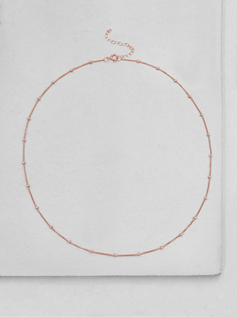 Beaded Chain - Rose Gold