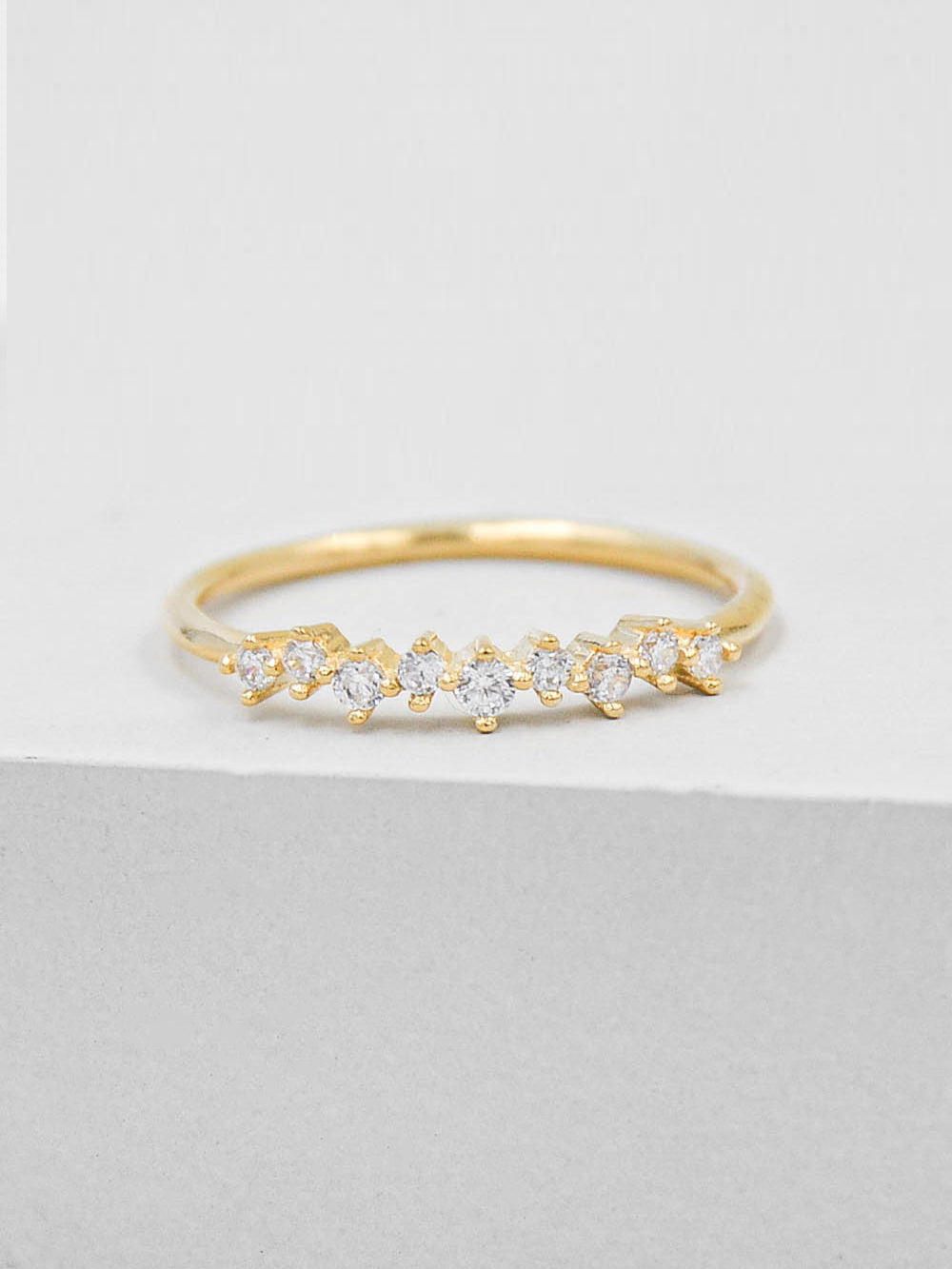 Mini Cluster Ring - Gold