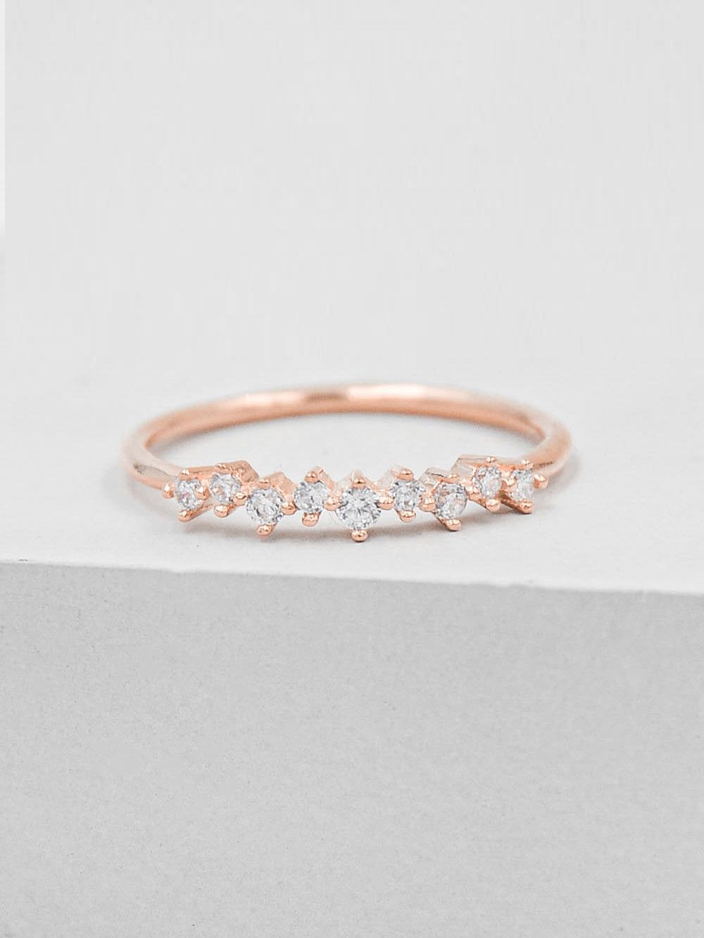 Mini Cluster Ring - Rose Gold