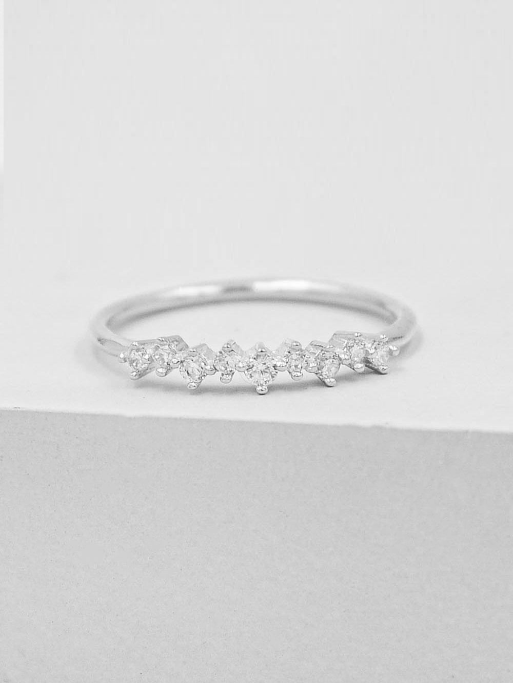 Mini Cluster Ring - Silver