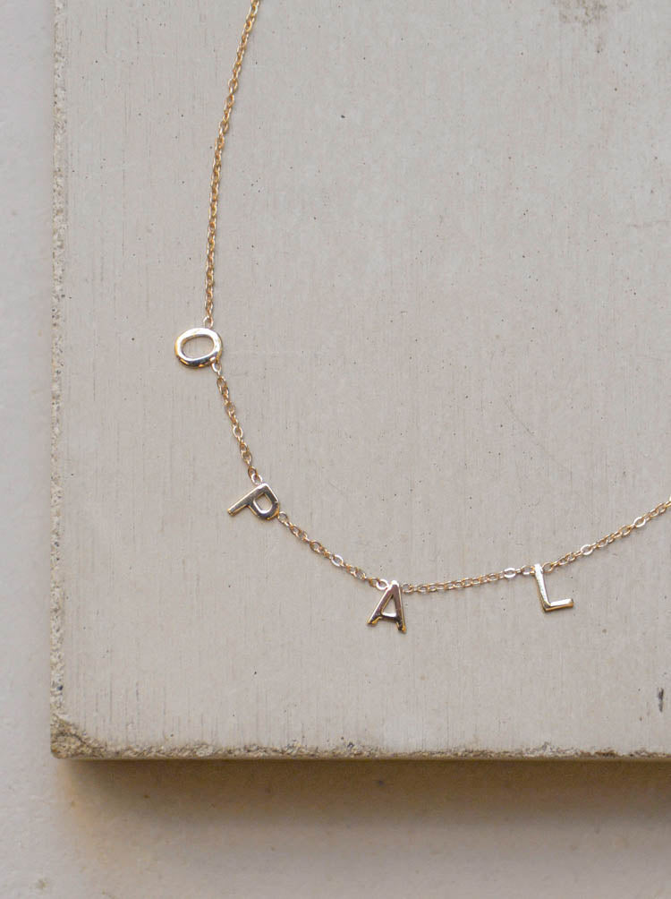 Personalized  Custom Name Necklace 14k Solid Gold by The Faint Hearted Jewelry