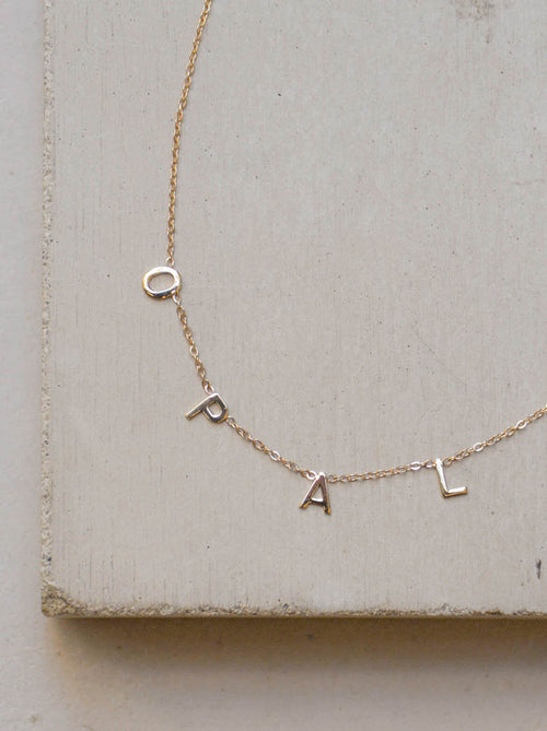 14k Solid Gold Custom Name Necklace