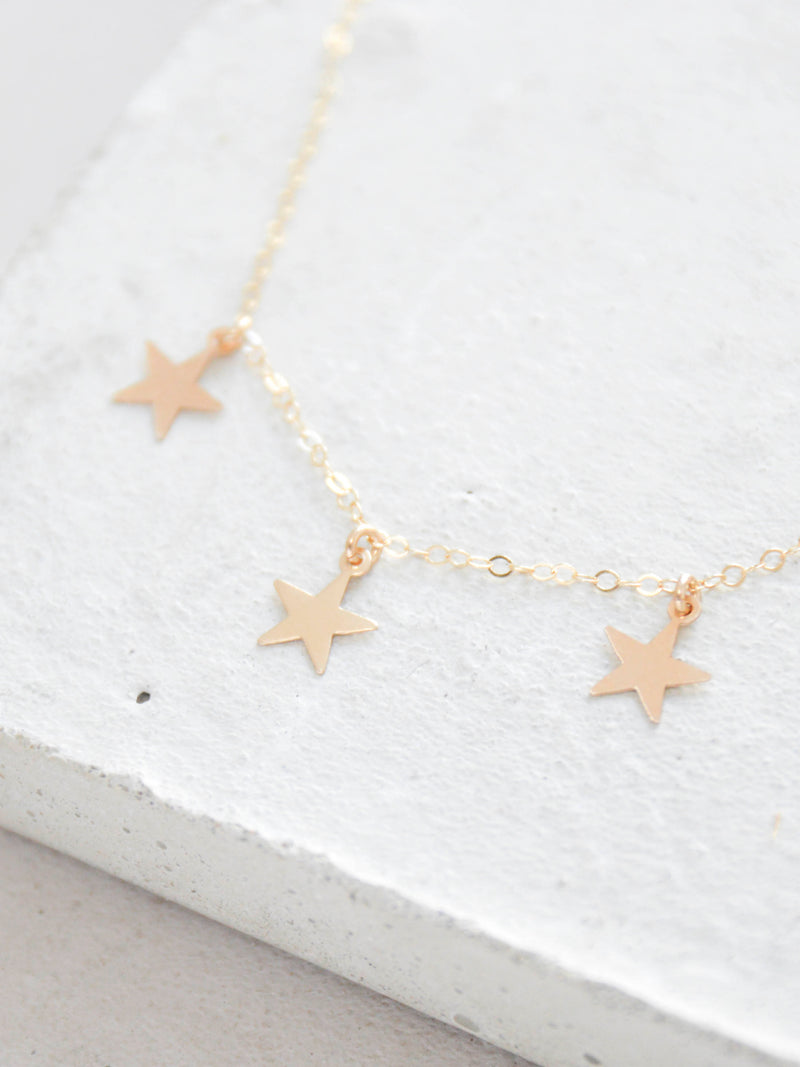 Gold Filled Star Layering Necklace by the faint hearted jewelry