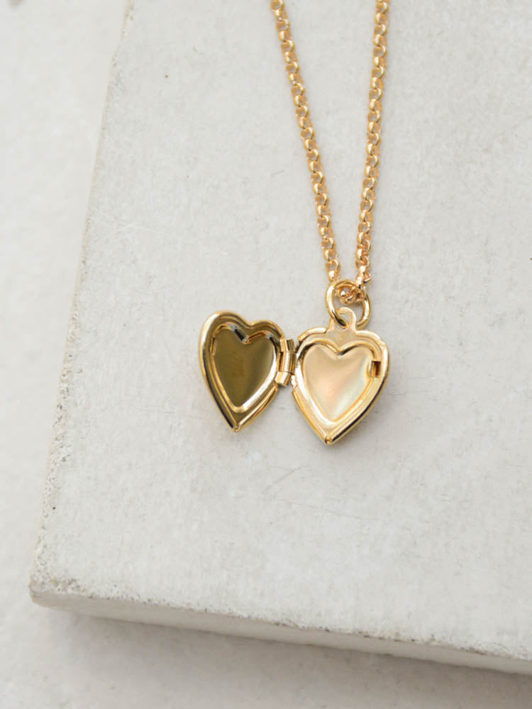 Gold Fill Heart Locket by The Faint Hearted Jewelry