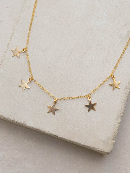5 Star Charm Necklace by The Faint Hearted Jewelry