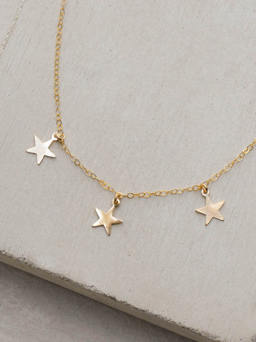 Dapped Moon Necklace - Gold
