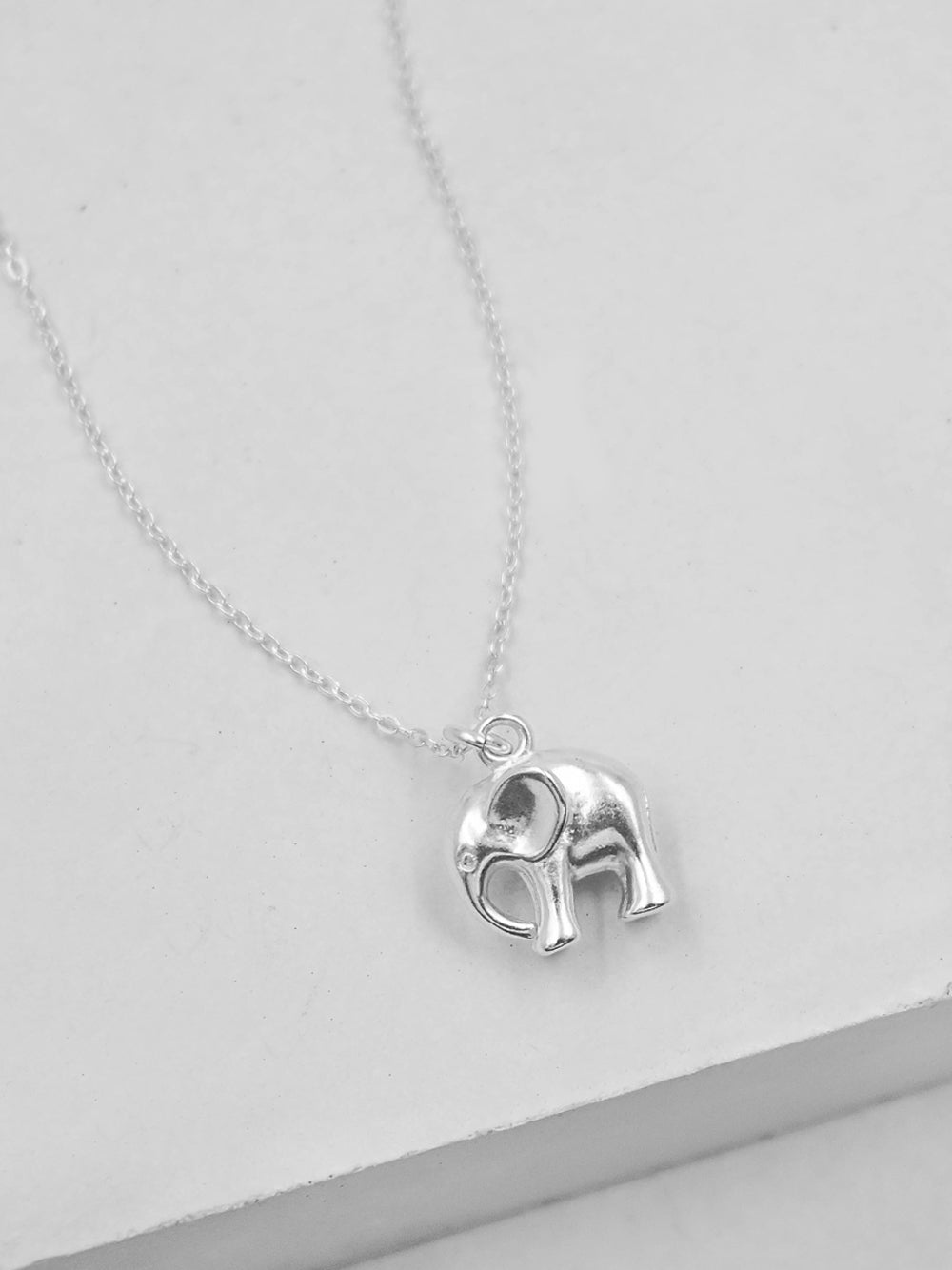 Sterling Silver Elephant Charm Necklace by The Faint Hearted Jewelry